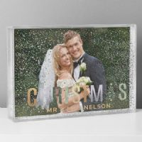 Personalised Christmas 6x4 Glitter Shaker Photo Frame - ideal gifts for Christmas
